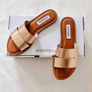✨New STEVE MADDEN Alexandra Slides Rose Gold